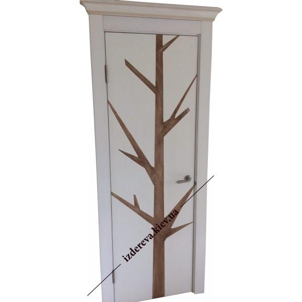 Из мдф декорированные шпоном двери на заказ в Киеве