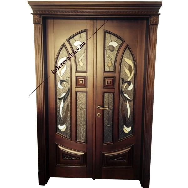 Двустворчатые межкомнатные двери из дерева купить