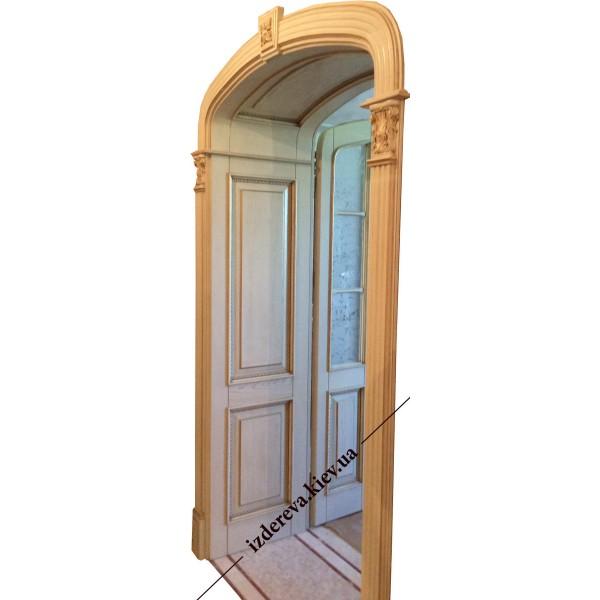Арочные деревянные двери