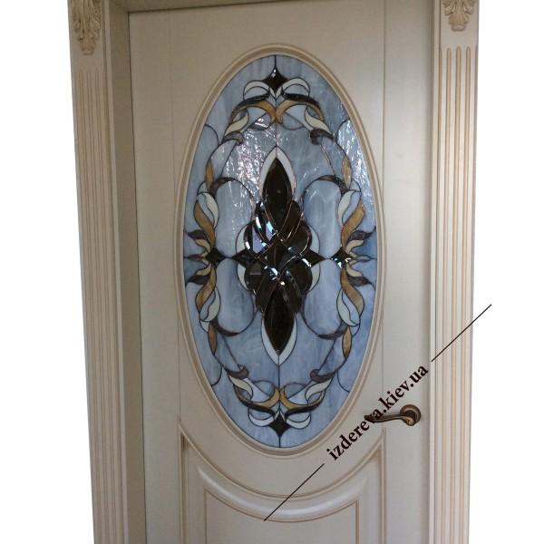 межкомнатные двери с витражами фото