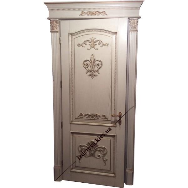 Из массива межкомнатные двери классика белые