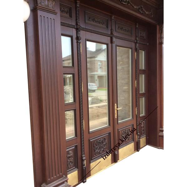 Входные деревянные двери на заказ для частного дома
