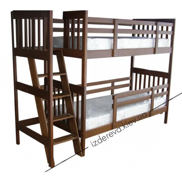 Ліжко дерев'яне двоярусне