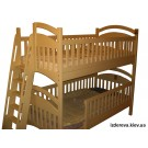 Двоярусне ліжко Каріна (кут нахилу сходів 12 градусів)