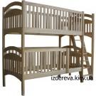 Дерев'яне двоярусне ліжко